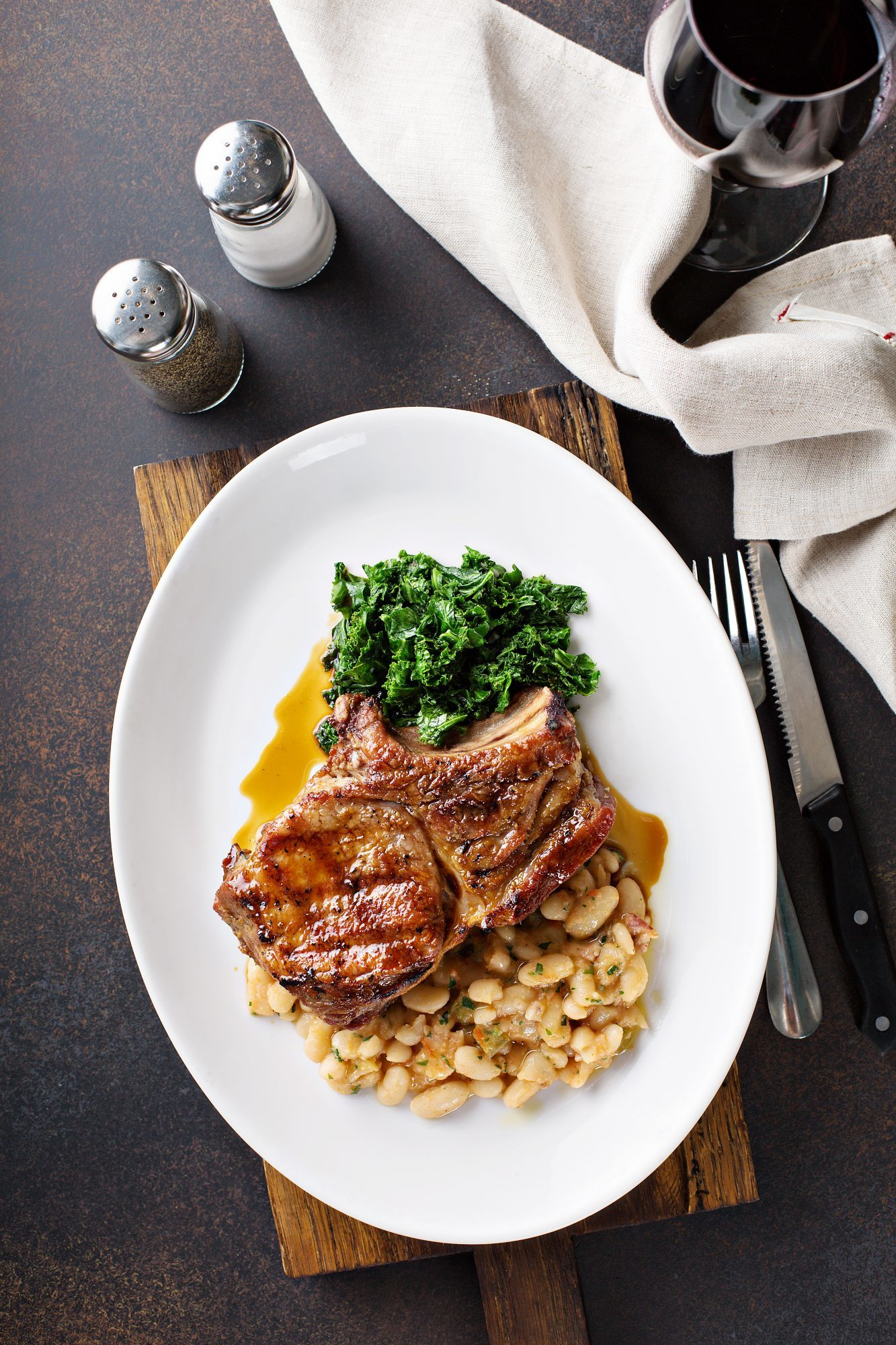 Pork Loin Chops With Bean Cassoulet